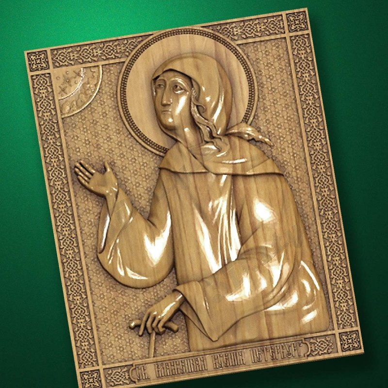 Carved wooden icon (Code 77555)