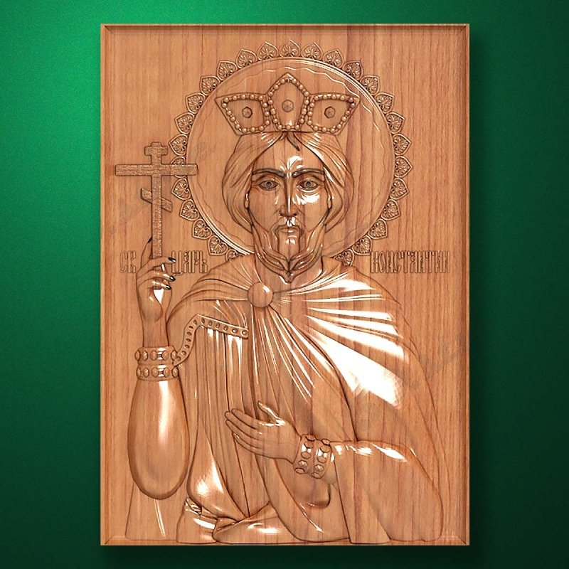 Carved wooden icon (Code 77557)