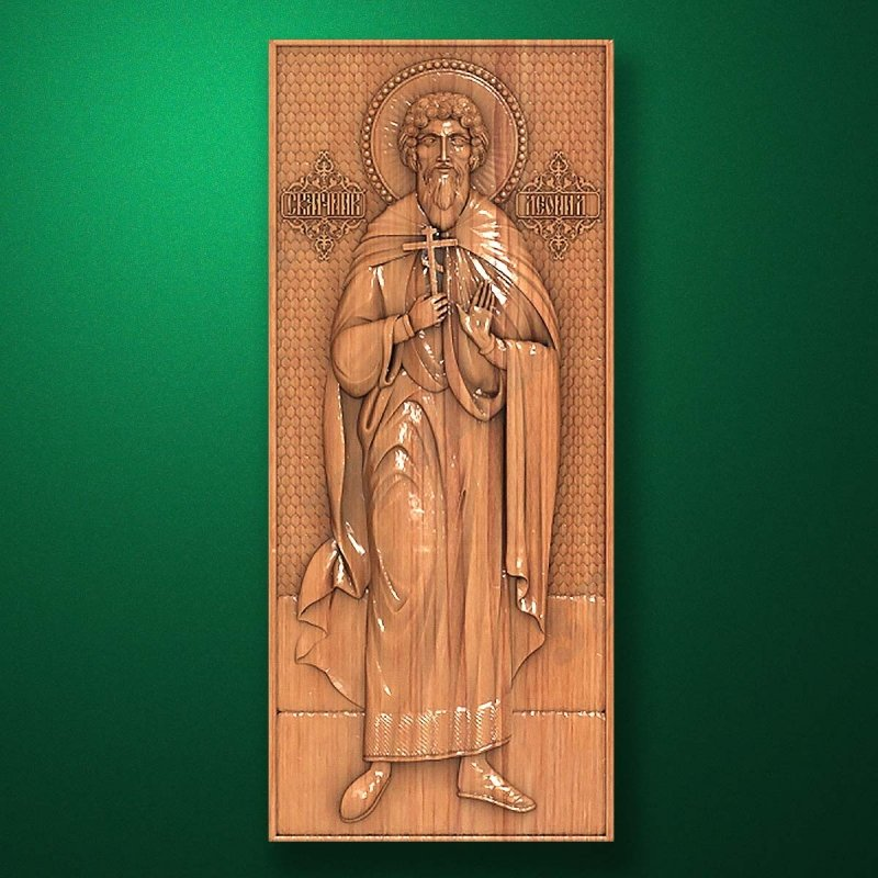 Carved wooden icon (Code 77558)