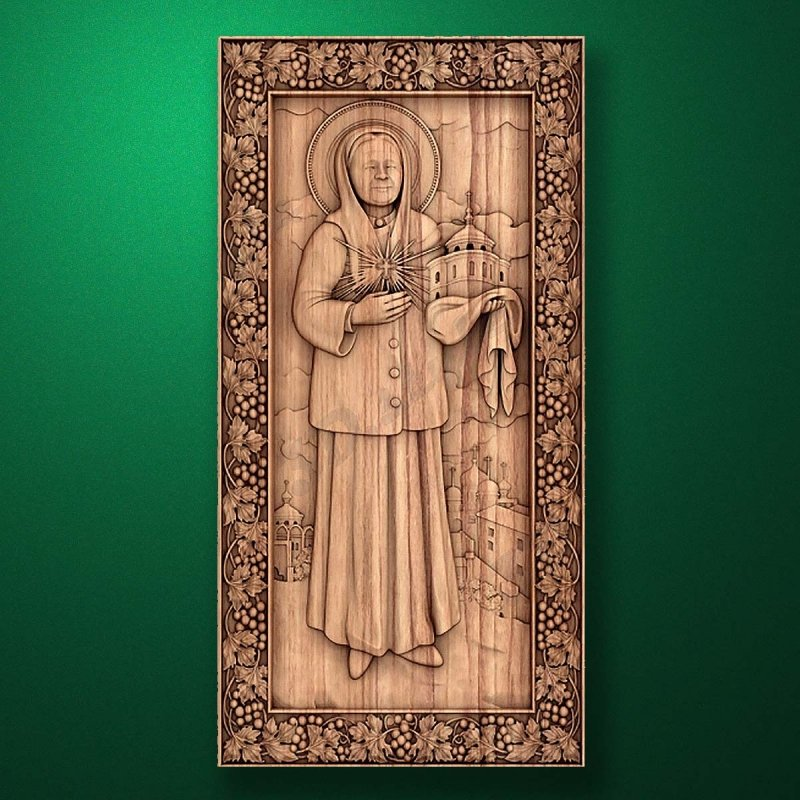 Carved wooden icon (Code 77559)