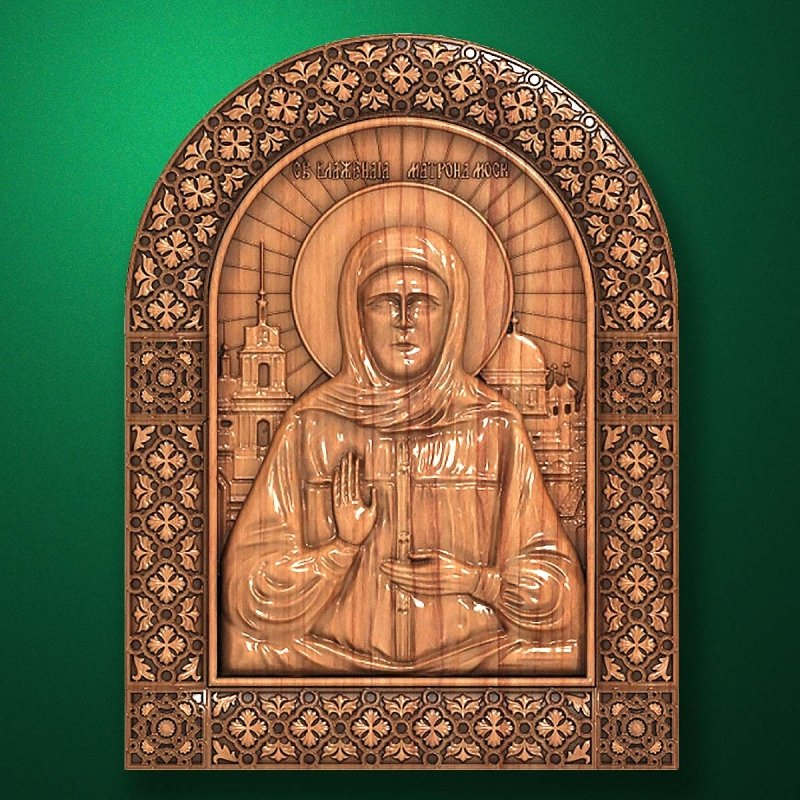Carved wooden icon (Code 77560)
