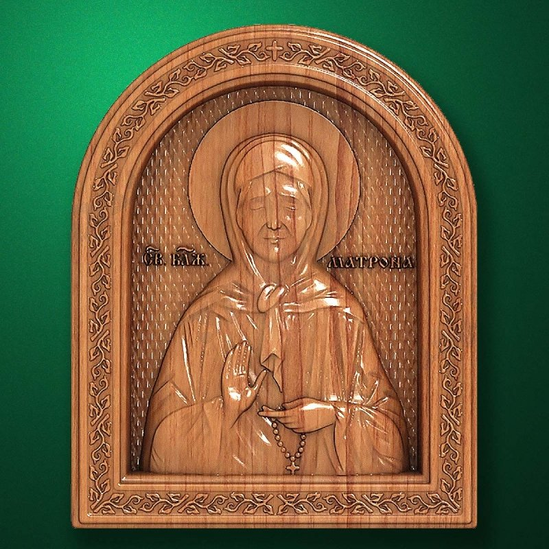 Carved wooden icon (Code 77561)