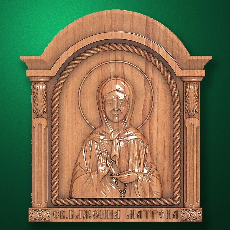 Carved wooden icon (Code 77562)