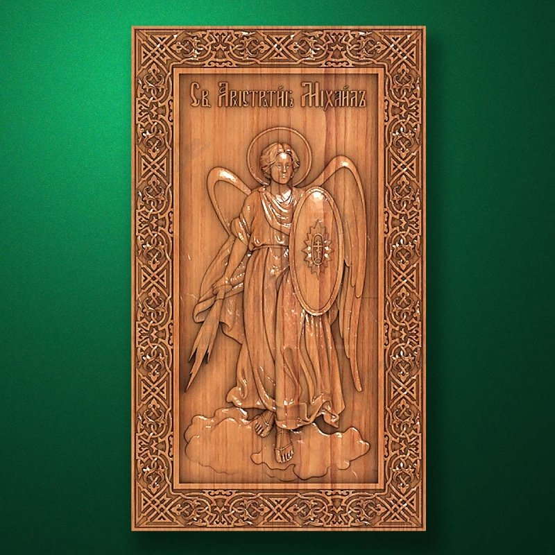 Carved wooden icon (Code 77563)