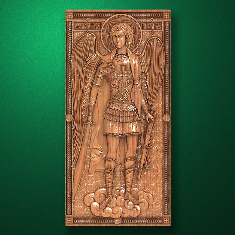 Carved wooden icon (Code 77564)