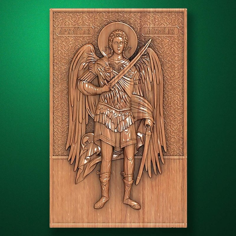 Carved wooden icon (Code 77565)
