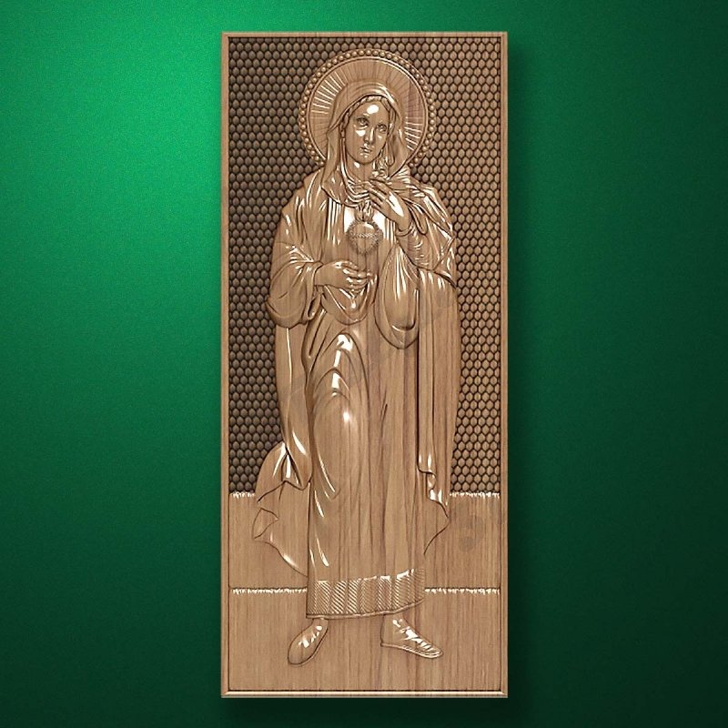 Carved wooden icon (Code 77566)