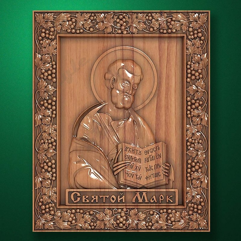 Carved wooden icon (Code 77568)