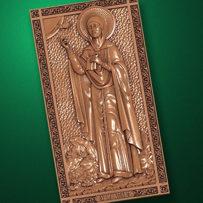Carved wooden icon (Code 77570)
