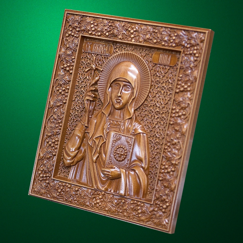 Carved wooden icon (Code 77571)
