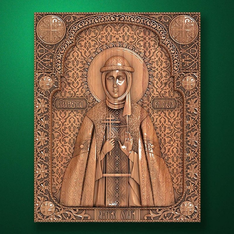 Carved wooden icon (Code 77572)