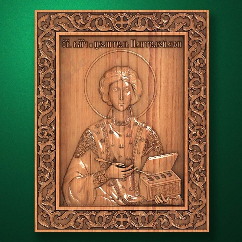 Carved wooden icon (Code 77575)