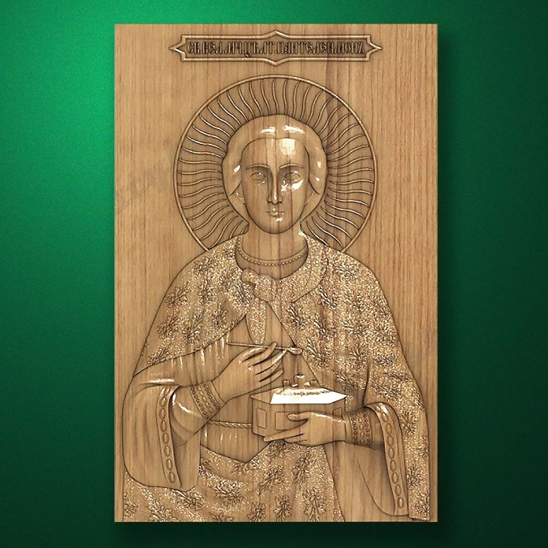 Carved wooden icon (Code 77576)