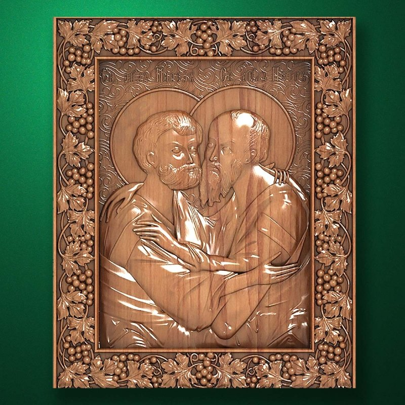 Carved wooden icon (Code 77577)