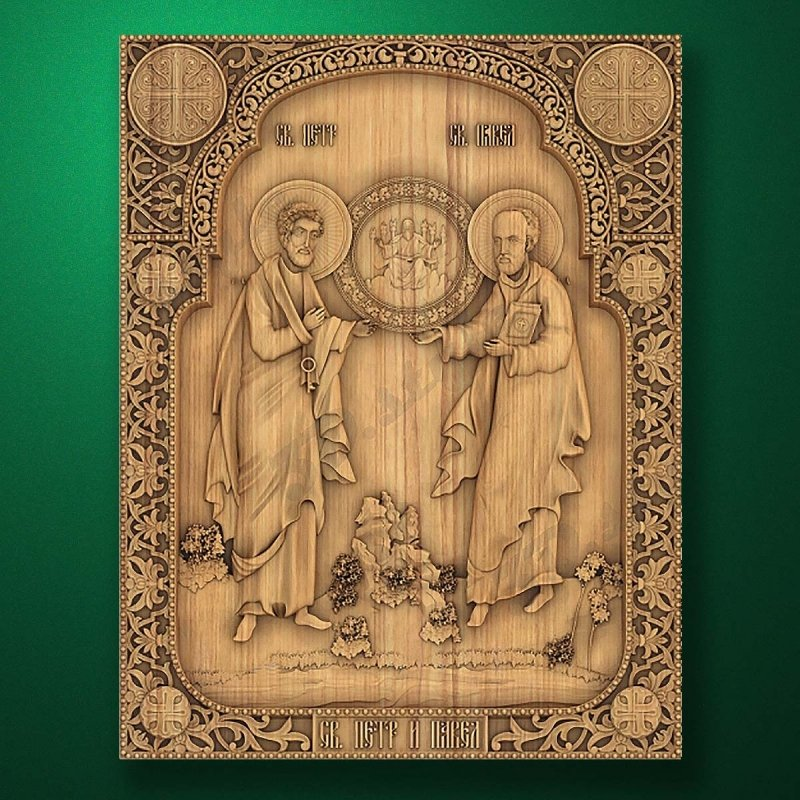 Carved wooden icon (Code 77578)