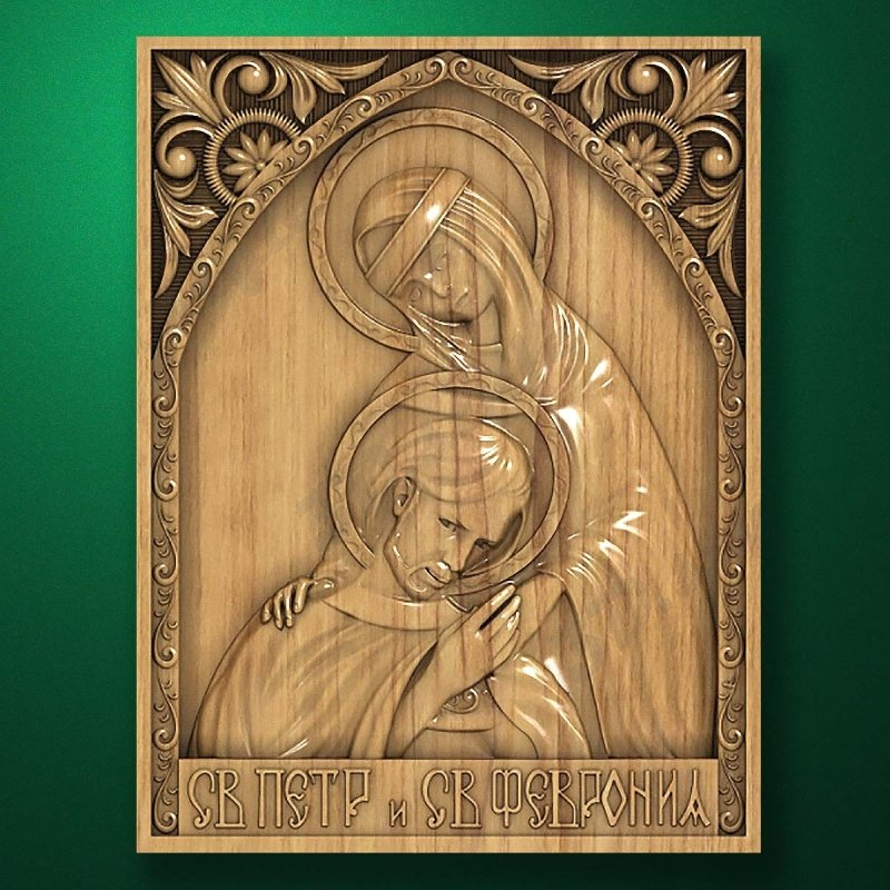 Carved wooden icon (Code 77580)