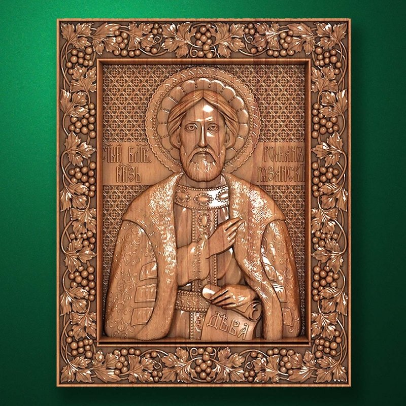 Carved wooden icon (Code 77582)