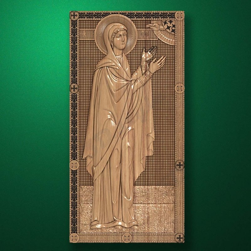 Carved wooden icon (Code 77587)