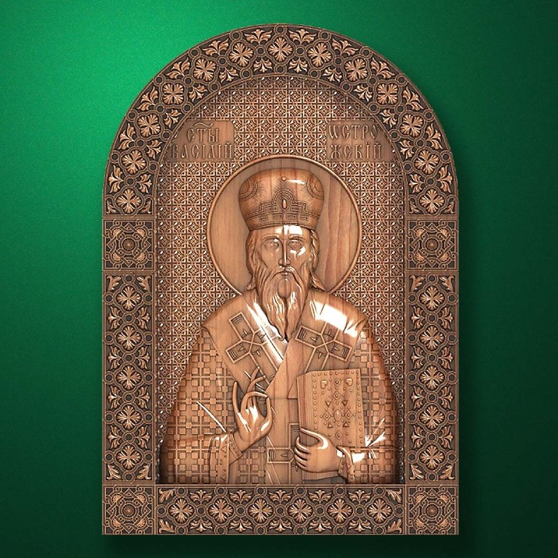 Carved wooden icon (Code 77588)