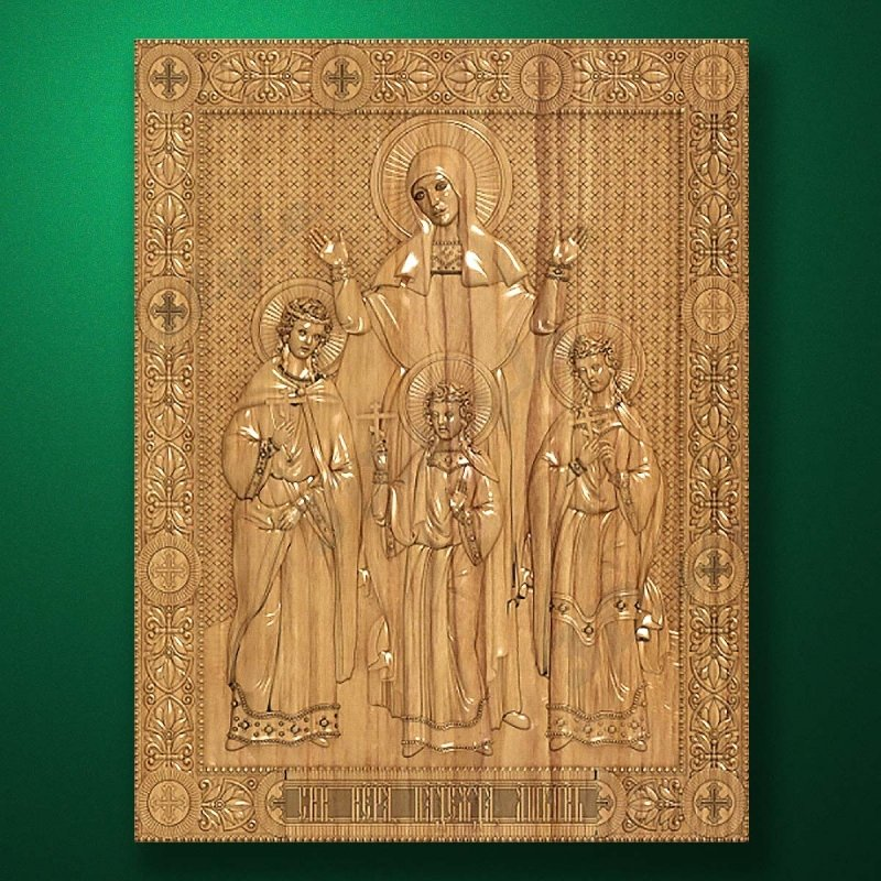Carved wooden icon (Code 77590)