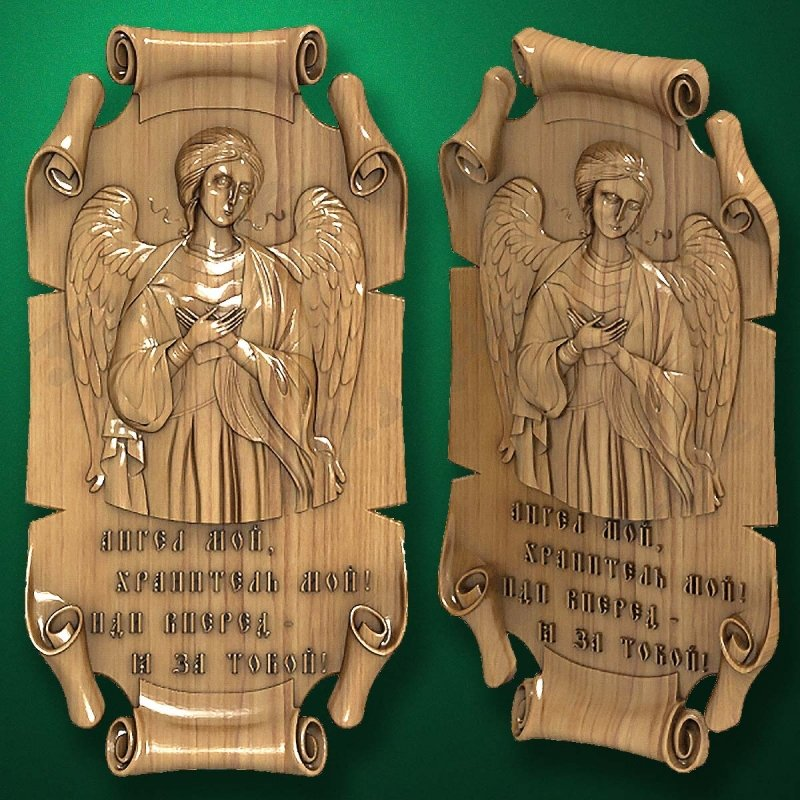 Carved wooden icon (Code 77593)