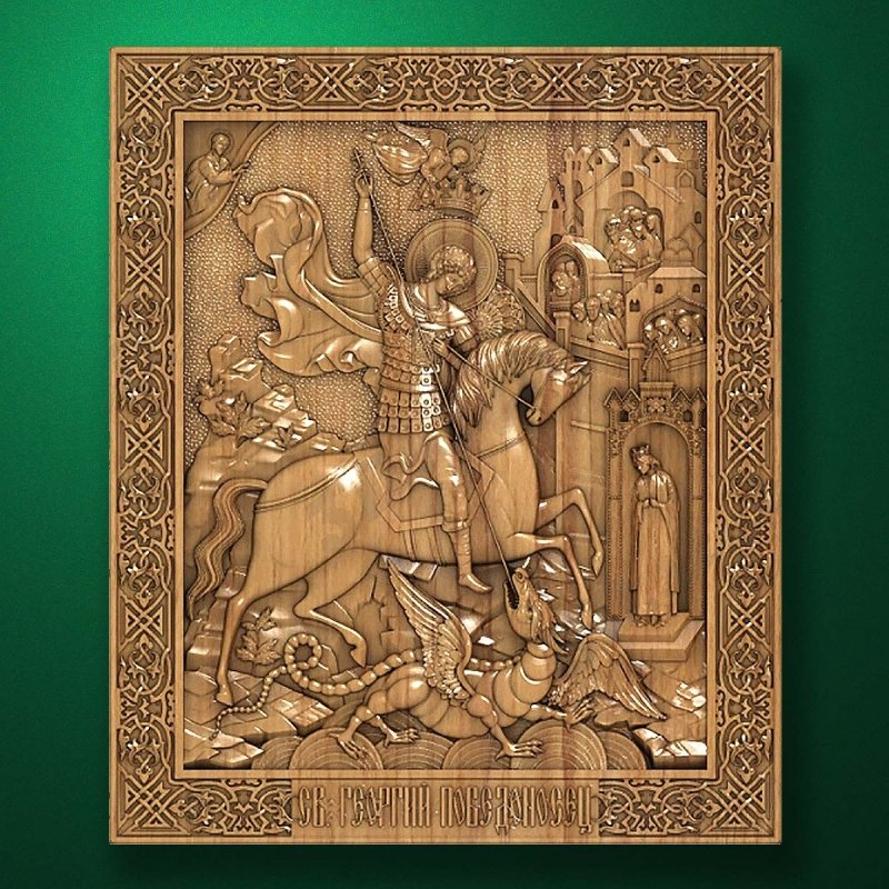 Carved wooden icon (Code 77596)