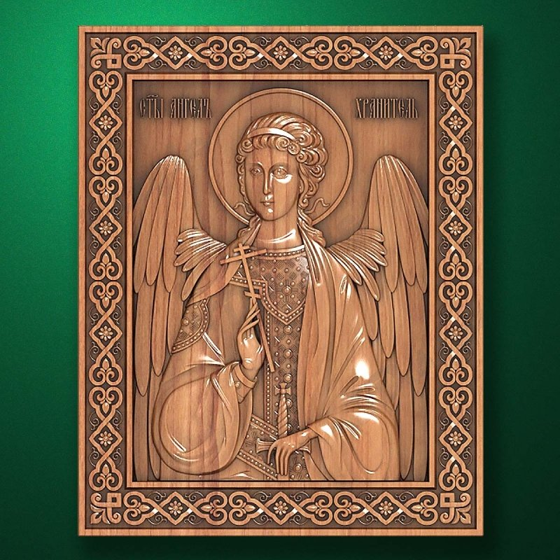Carved wooden icon (Code 77598)