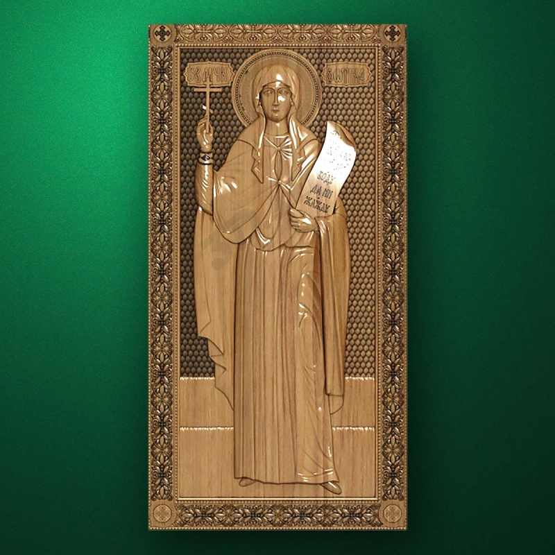 Carved wooden icon (Code 77601)