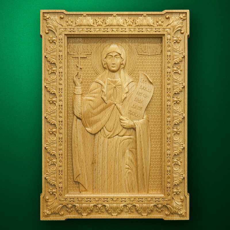 Carved wooden icon (Code 77602)