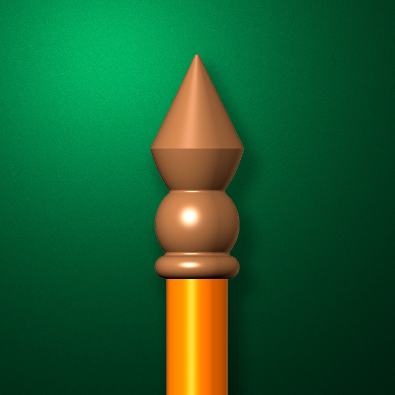 "Finial for flagpole ""Cone"""