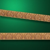 "Wood carved moldings ""Moldings-009"""
