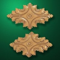 "Carved wood decor ""Central element-010"""