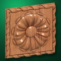 "Carved wood decor ""Central element-038"""