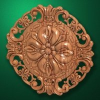 "Carved wood decor ""Central element-042"""