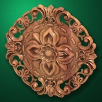 "Carved wood decor ""Central element-043"""