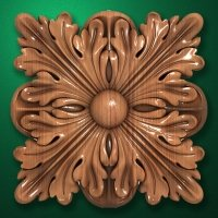 "Carved wood decor ""Central element-044"""