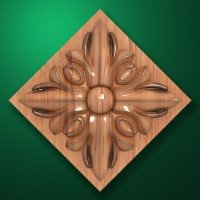 "Carved wood decor ""Central element-056"""
