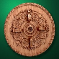 "Picture - Carved wood decor ""Central element-058"""
