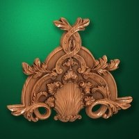 Carved wooden or MDF decorative onlay for furniture. Code 13501