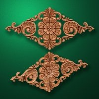Carved wooden or MDF decorative onlay for furniture. Code 13505