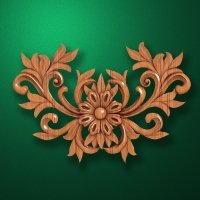 Carved wooden or MDF decorative onlay for furniture. Code 13508
