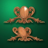 Carved wooden or MDF decorative onlay for furniture. Code 13511