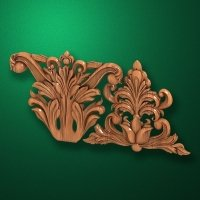 Carved wooden or MDF decorative onlay for furniture. Code 13512