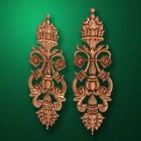 Carved wooden or MDF decorative onlay for furniture. Code 13519