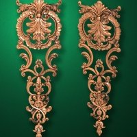 Carved wooden or MDF decorative onlay for furniture. Code 13522