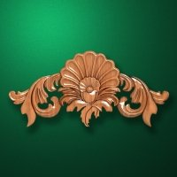 Carved wooden or MDF decorative onlay for furniture. Code 13528