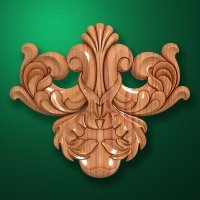 Carved wooden or MDF decorative onlay for furniture. Code 13531