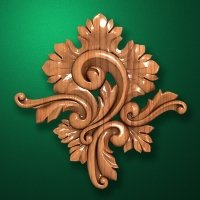 Carved wooden or MDF decorative onlay for furniture. Code 13532