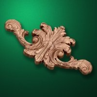 Carved wooden or MDF decorative onlay for furniture. Code 13533