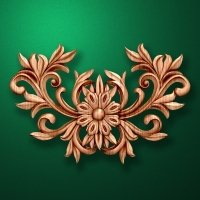 Carved wooden or MDF decorative onlay for furniture. Code 13534